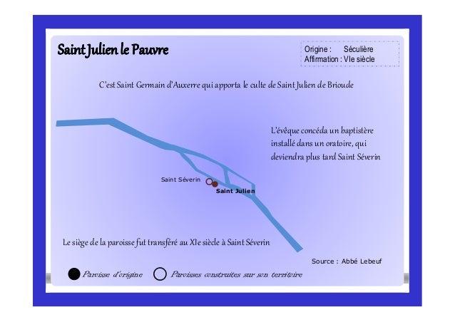 SaintJulienSaintJulienle Pauvrele Pauvre Source : Abbé Lebeuf Saint Séverin Paroisse d'origine Paroisses construites sur s...