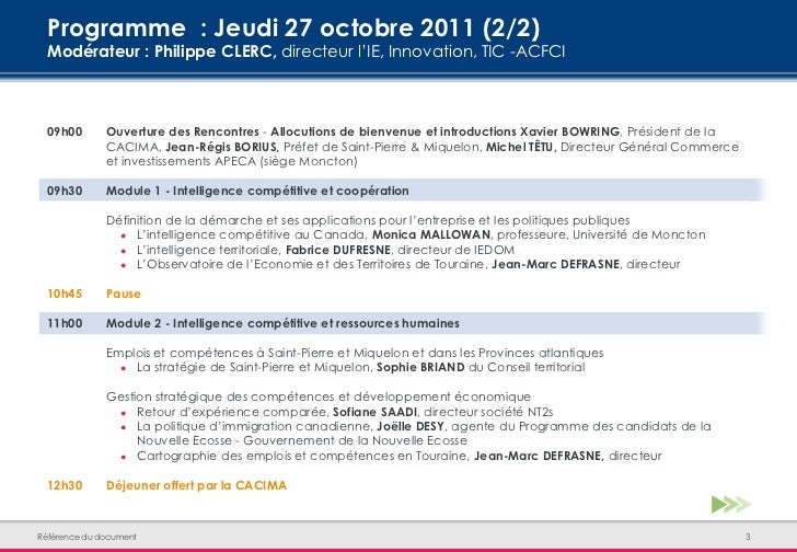 Ires Rencontres Franco Canadiennes DIntelligence Comptitive