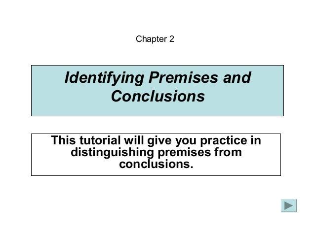 Analyze conclusion essay premises