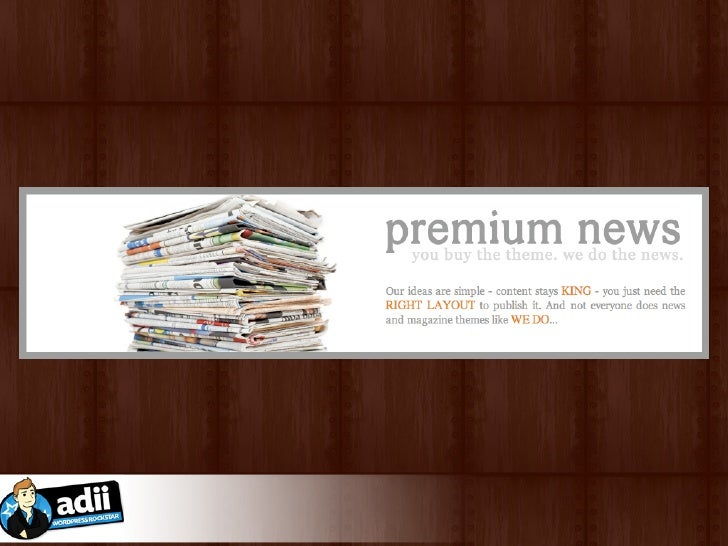 "Adii says ""Hi!"" What is Premium WordPress Themes?  ★ not available for free / sold for nominal fee  ★ additional features ..."