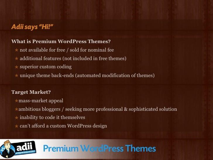 So what am I doing?  ★ Theme Marketplace... Premium News  ★ URL... http://www.premiumnewstheme.com  ★ Launched... 2 Novemb...