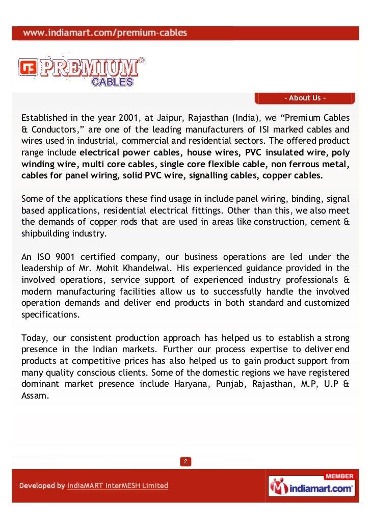 Premium cables Jaipur Electrical power cables