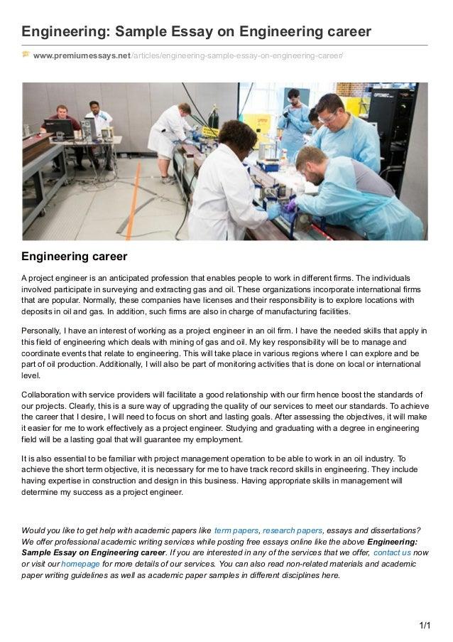 Premiumessaysnet Engineering Sample Essay On Engineering Career Engineering Sample Essay On Engineering Career  Wwwpremiumessaysnetarticlesengineering