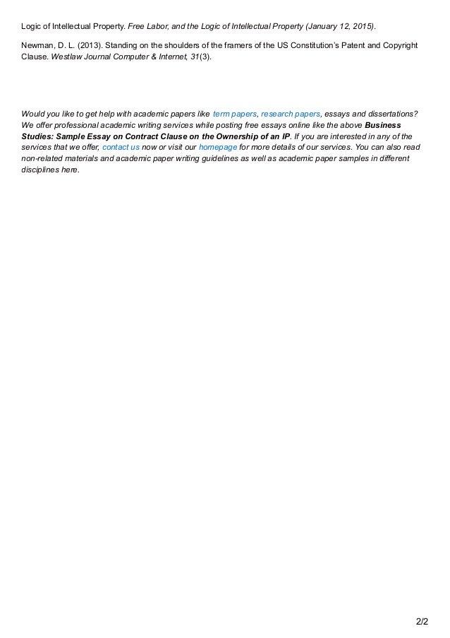intellectual property law paper