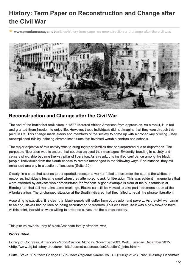 civil war essay