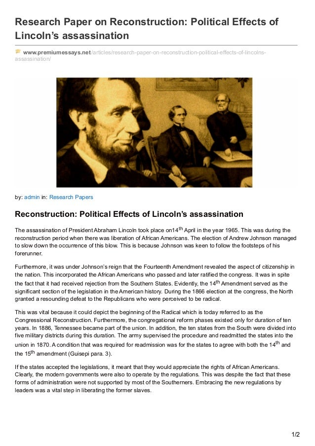 assassination research paper