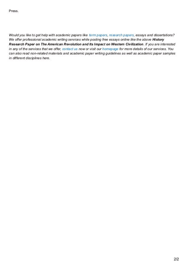 premiumessaysnet history research paper on the american revolution a