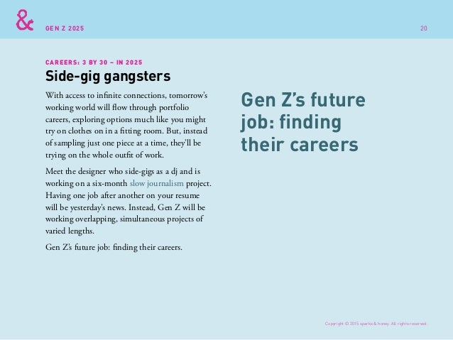 GEN Z 2025 With access to infinite connections, tomorrow's working world will flow through portfolio careers, exploring op...