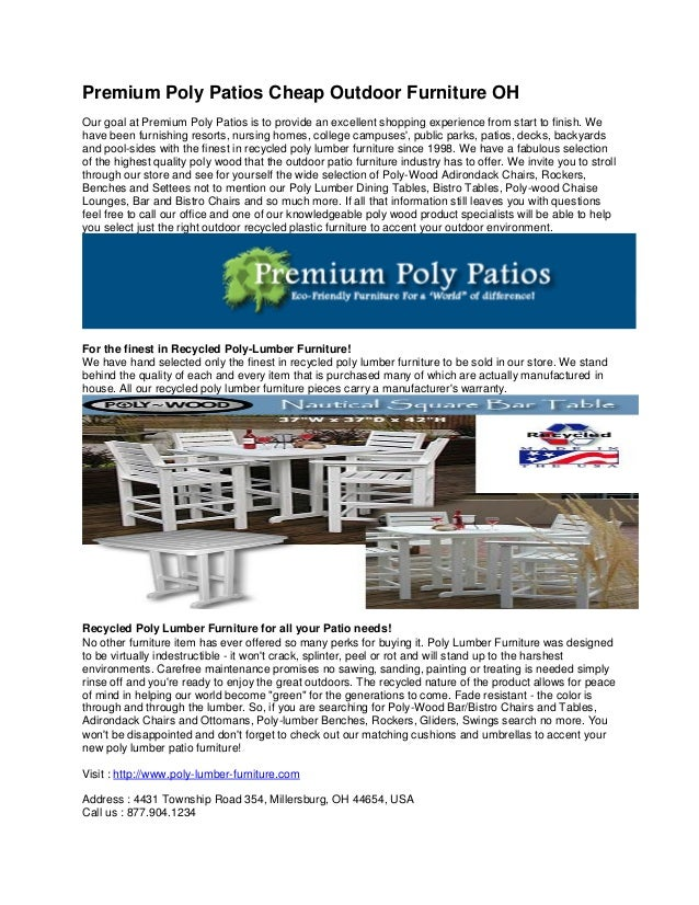 Premium Poly Patios Cheap Outdoor Furniture OH Our goal at Premium Poly  Patios is to provide - Premium Poly Patios Cheap Outdoor Furniture Oh