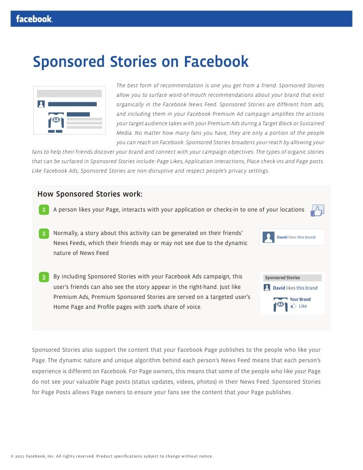 Sponsored Stories on Facebook                                                   The best form of recommendation is one you...