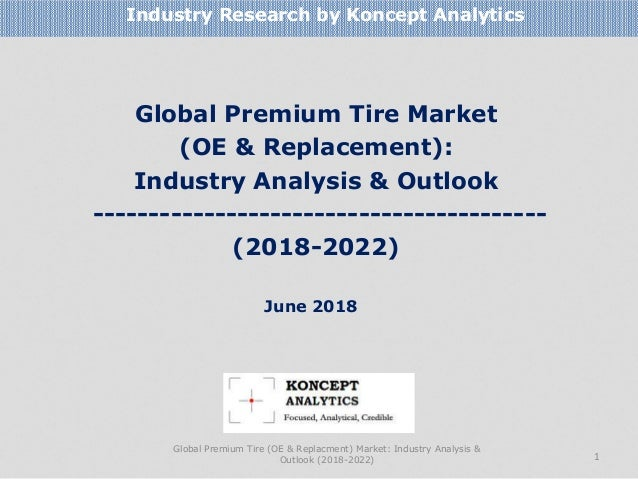 Global Premium Tire Market (OE & Replacement): Industry Analysis & Outlook ----------------------------------------- (2018...