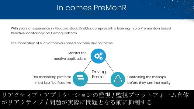 In comes PreMonR With years of experience in Reactive stack; Knoldus compiles all its learning into a Premonition based Re...