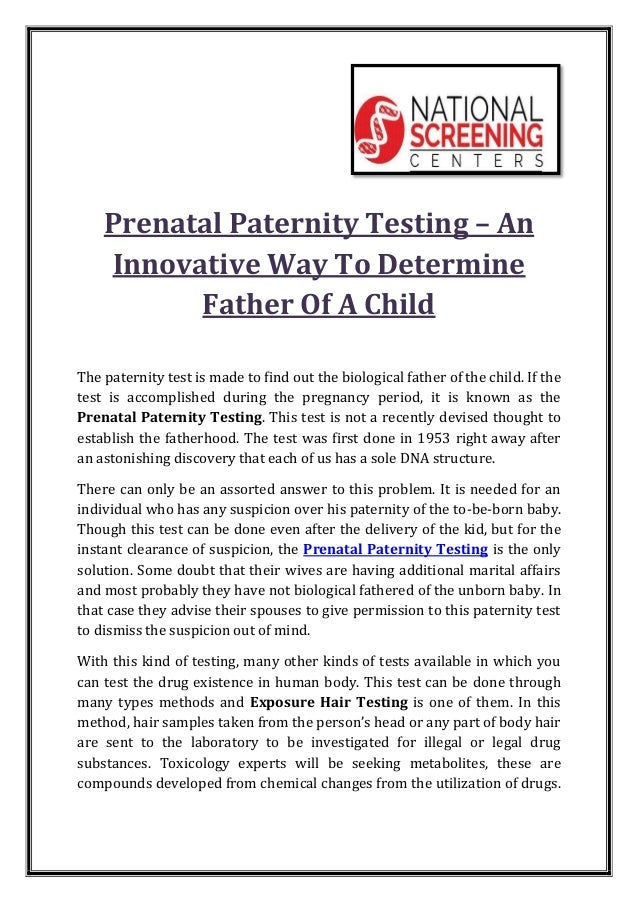 Paternity test centers