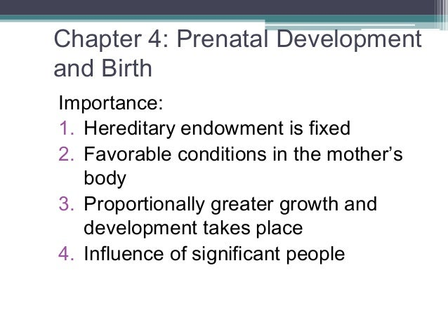 an introduction to the importance of prenatal development Introduction 2 2 prenatal development ٦ 3 fetal stage may be important sometimes vulnerability may depend on a gene either in the.