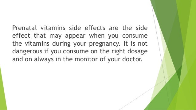 Vitamin Supplements Adverse Effects