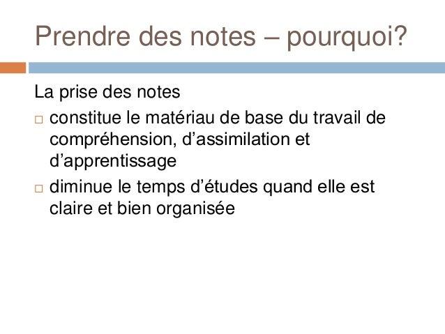 Prendre des notes Slide 2