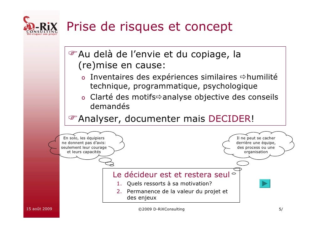 Prise de risques et concept                         Au delà de l'envie et du copiage, la                        (re)mise e...