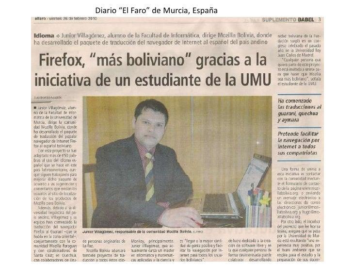 "Diario ""El Faro"" de Murcia, España"