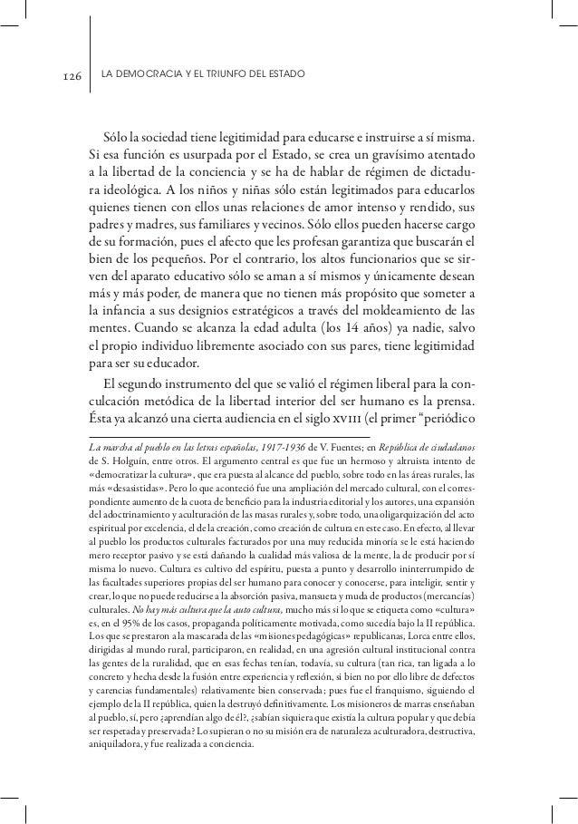 126      La democracia y el triunfo del estado                                                                    CATUO   ...