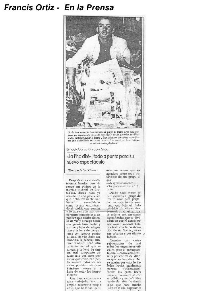 Francis Ortiz - En la Prensa