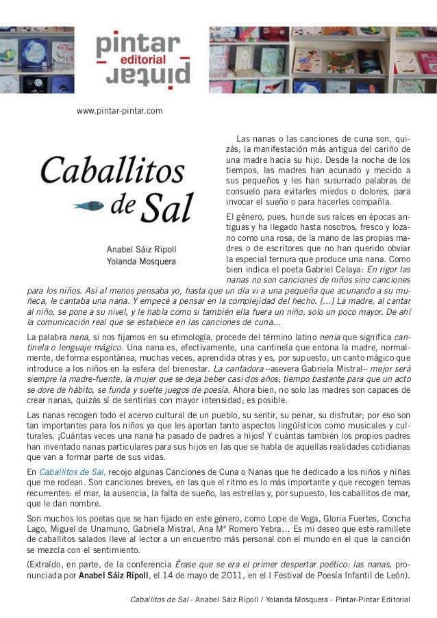 Caballitos de Sal - Anabel Sáiz Ripoll / Yolanda Mosquera