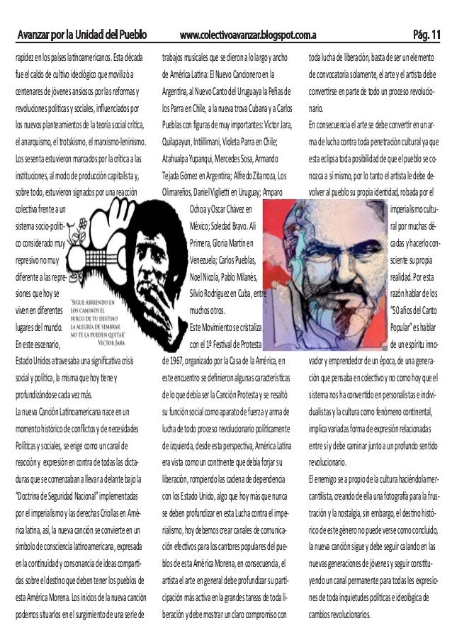 Avanzar por la Unidad del Pueblo www.colectivoavanzar.blogspot.com.a Pág. 11 rapidezenlospaíseslatinoamericanos.Estadécada...