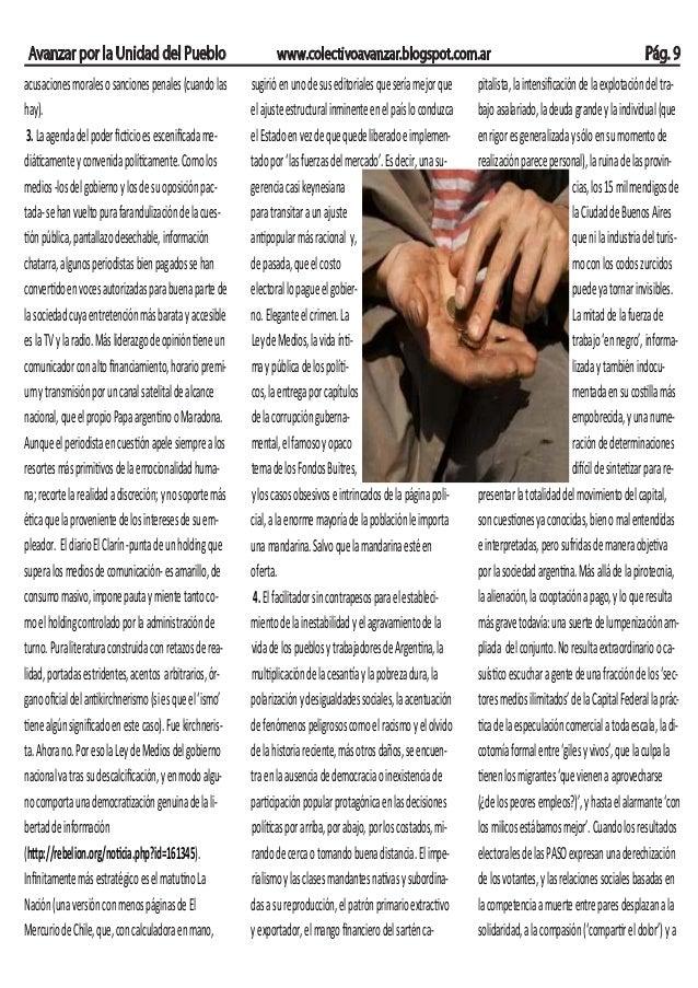 Avanzar por la Unidad del Pueblo www.colectivoavanzar.blogspot.com.ar Pág. 9 acusacionesmoralesosancionespenales(cuandolas...