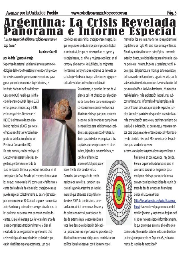 Avanzar por la Unidad del Pueblo  www.colectivoavanzar.blogspot.com.ar  Pág. 5  Argentina: La Crisis Revelada Panorama e I...