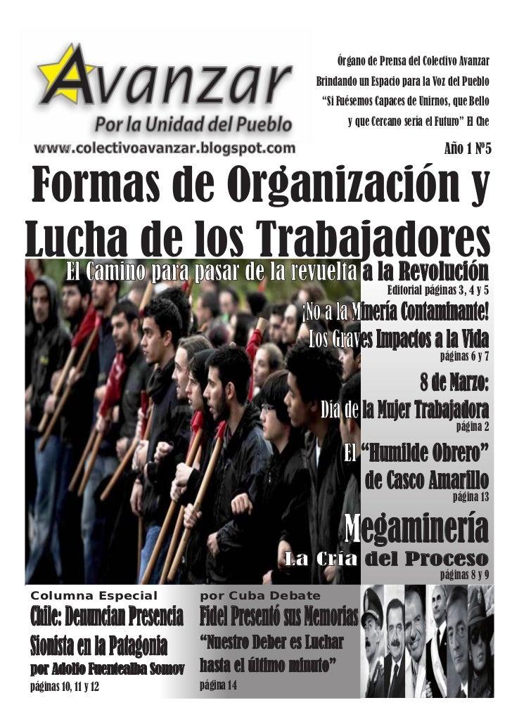 Órgano de Prensa del Colectivo Avanzar                                                 Brindando un Espacio para la Voz de...
