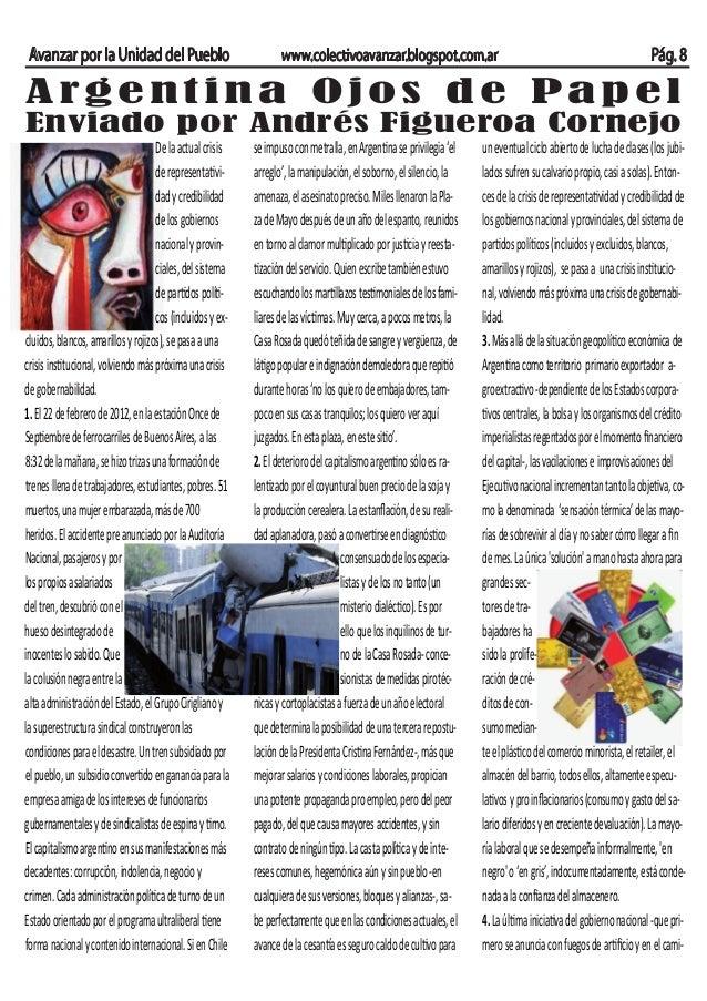 Avanzar por la Unidad del Pueblo                                 www.colectivoavanzar.blogspot.com.ar                     ...