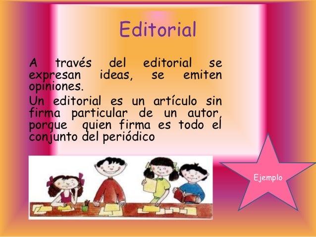 Prensa escolar ii 1 for Ejemplo de editorial de un periodico mural