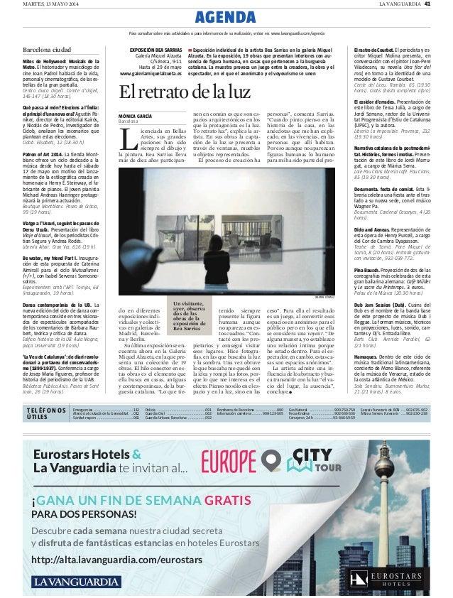 MARTES, 13 MAYO 2014 LA VANGUARDIA 41 Barcelona ciudad Mites de Hollywood: Musicals de la Metro. El historiador y musicólo...