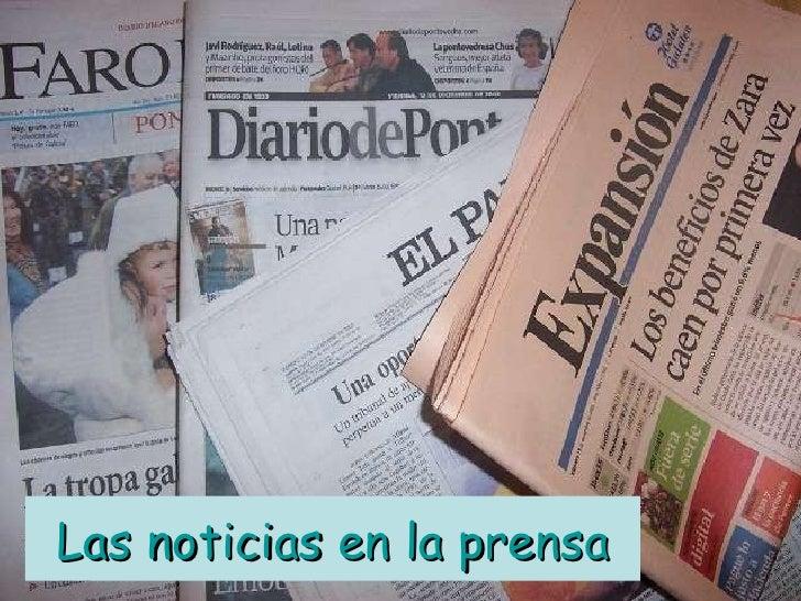 Las noticias en la prensa