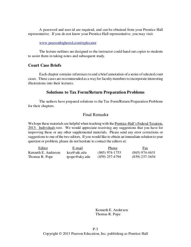 prentice halls federal taxation 2013 individuals 26th edition pope so rh slideshare net Regressive Taxation Regressive Taxation