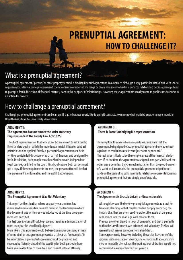Prenuptial Agreement How To Challenge It