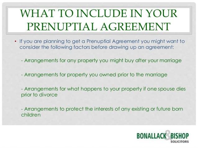 Prenuptial Agreements – Prenuptial Agreement