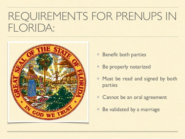 Prenuptial Agreements In Florida