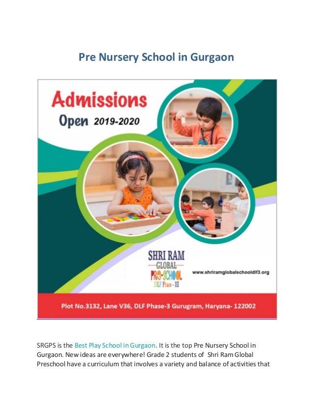 Pre Nursery School in Gurgaon SRGPS is the Best Play School in Gurgaon. It is the top Pre Nursery School in Gurgaon. New i...