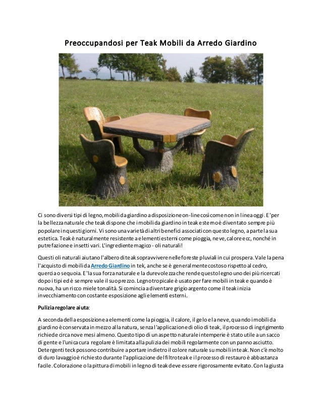 Preoccupandosi per teak mobili da arredo giardino - Mobili da giardino in teak ...