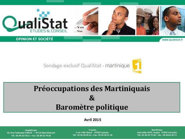 Page  1  QualiStat  Etudes  et  Conseil  –  avril  2015   France  Télévisions  –  Mar>nique  1èr...