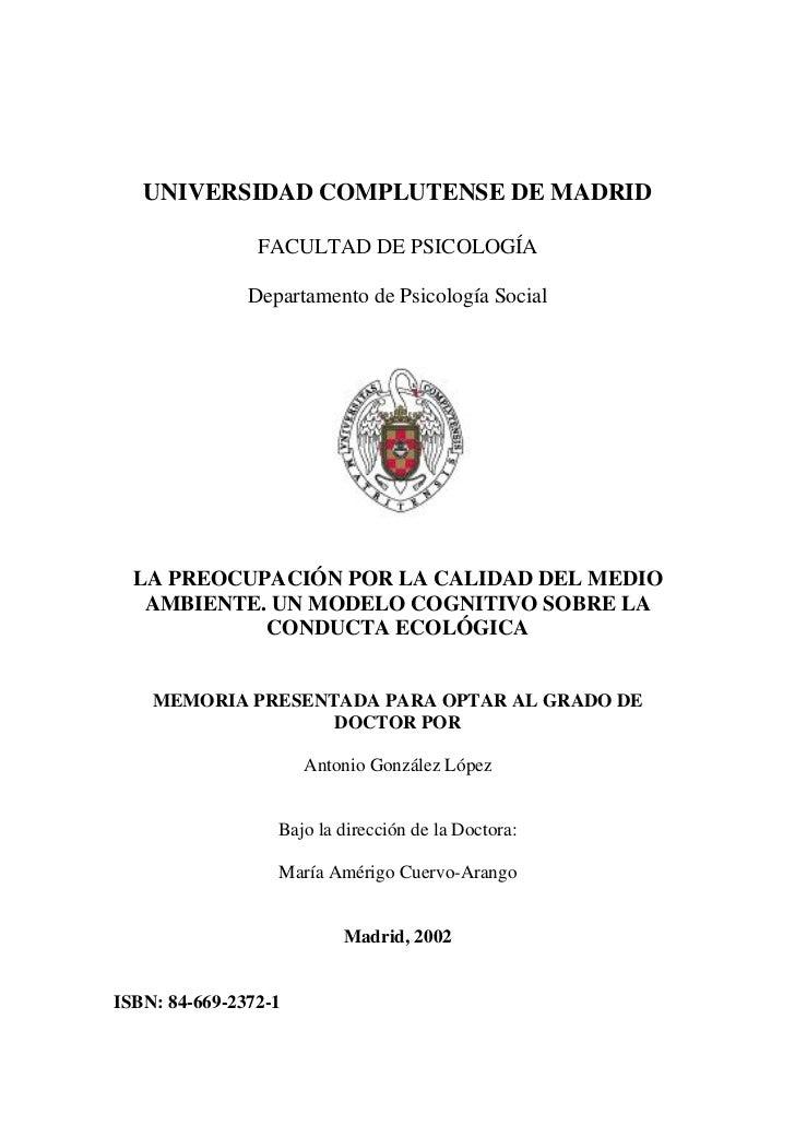 UNIVERSIDAD COMPLUTENSE DE MADRID                FACULTAD DE PSICOLOGÍA               Departamento de Psicología Social  L...