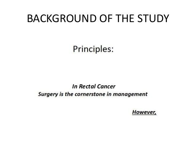 Preoperative versus postoperative chemoradiotherapy for rectal cancer Slide 3