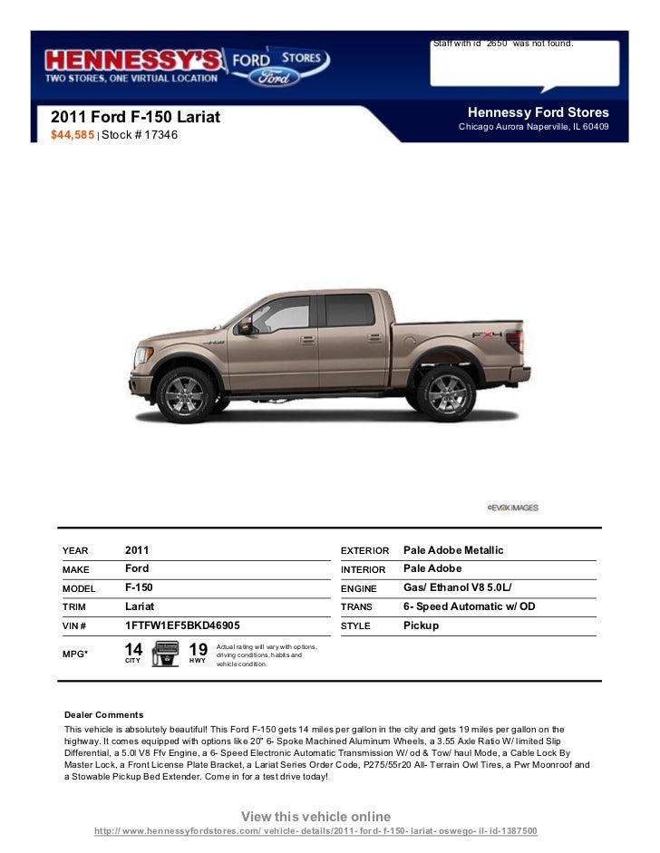 Pre Owned 2011 Ford F 150 Lariat