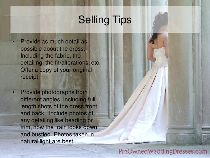 PreOwnedWeddingDresses.com | Sell wedding dress | Selling tips
