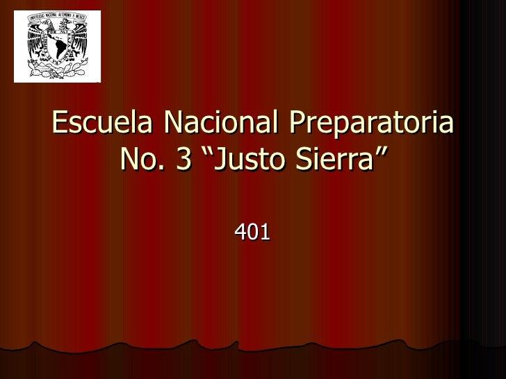 """Escuela Nacional Preparatoria No. 3 """"Justo Sierra"""" 401 Mexico - UK"""