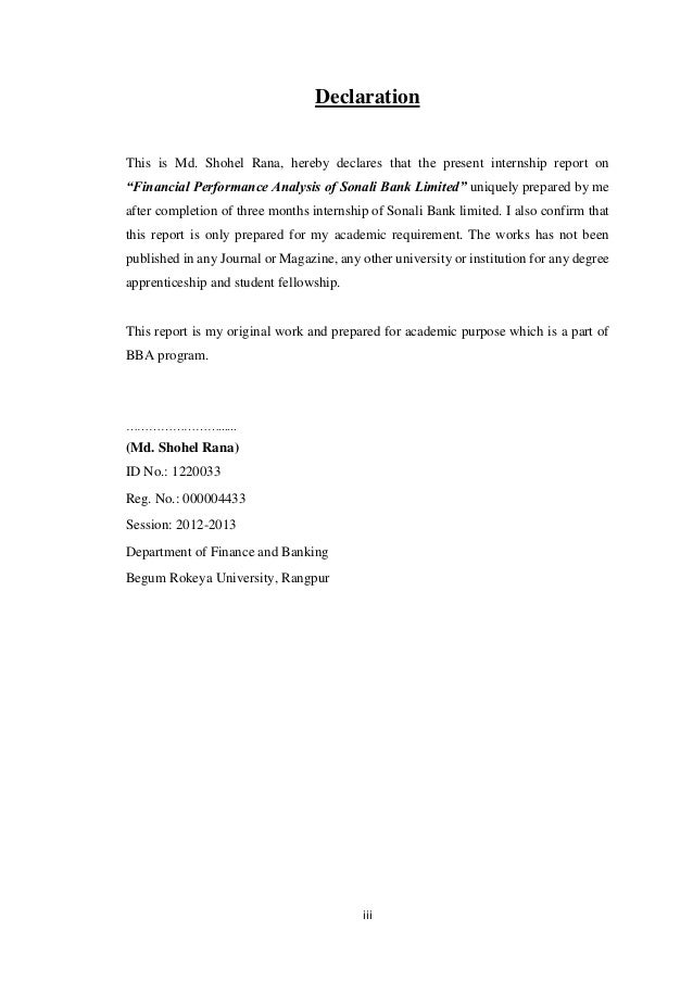 Dedication Letter Of Submission Executive Summary