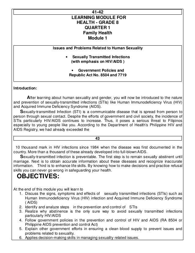 PCP HIV AIDS Toolkit/Summary of RA 8054
