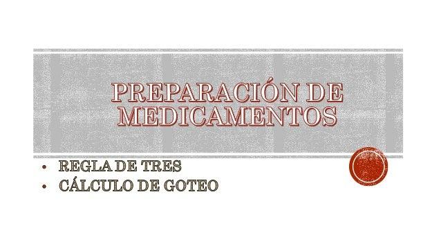 Es el procedimiento que se realiza para obtener la dosificación indicada en forma exacta, aun en cantidades muy pequeñas y...