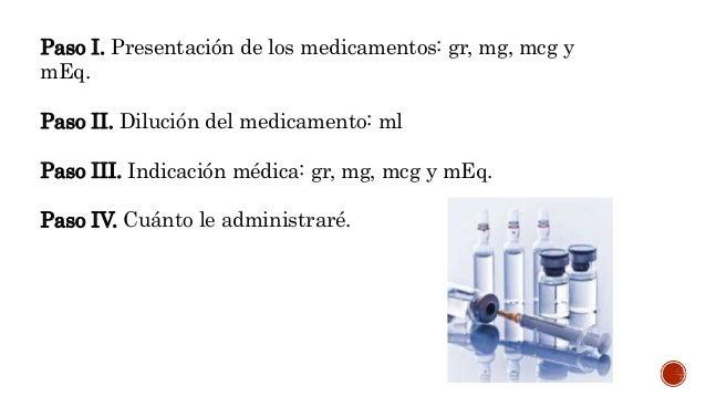 Preparación de medicamentos: regla de tres, conversión de dosis y cálculo de goteo Slide 3