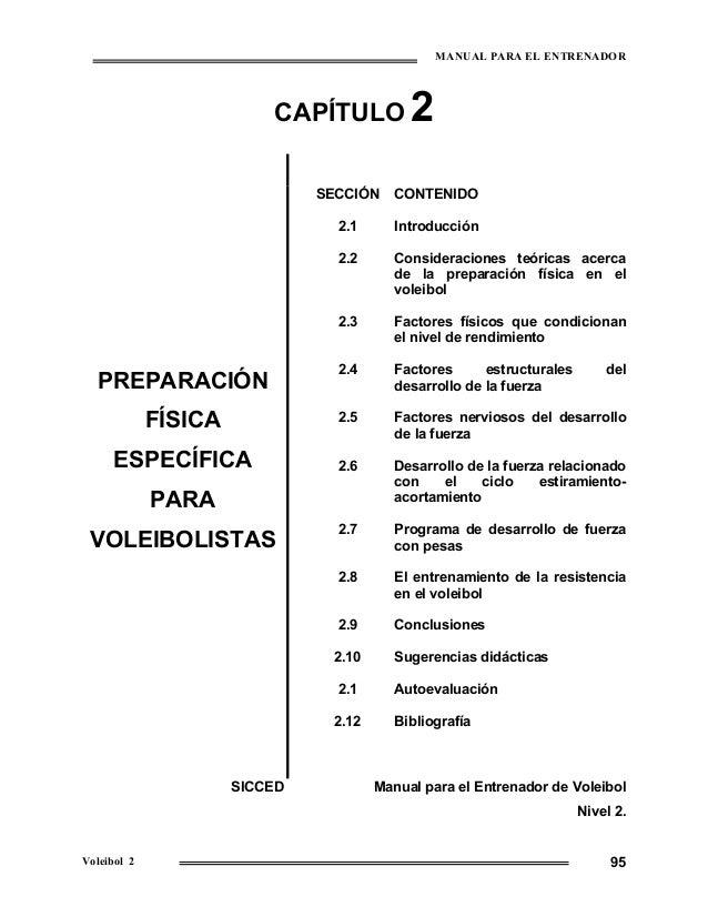 MANUAL PARA EL ENTRENADOR                          CAPÍTULO           2                               SECCIÓN     CONTENID...